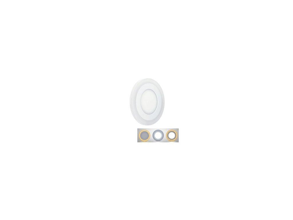 LED podsvícený panel, podhledový, 18W+6W, 1530lm, 4000K, kulatý