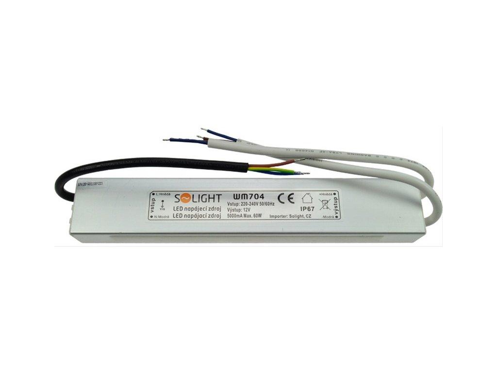 LED napájecí zdroj 230V - 12V 5A 60W IP67