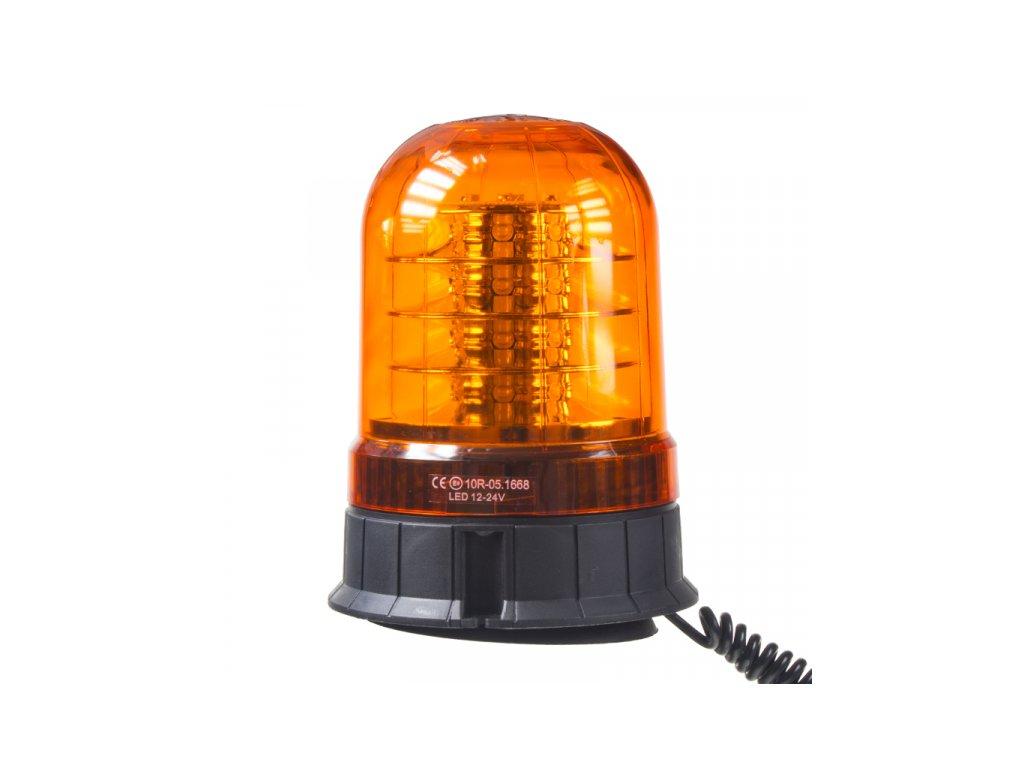 LED maják 12-24V 24x3W oranžový magnet ECE R65