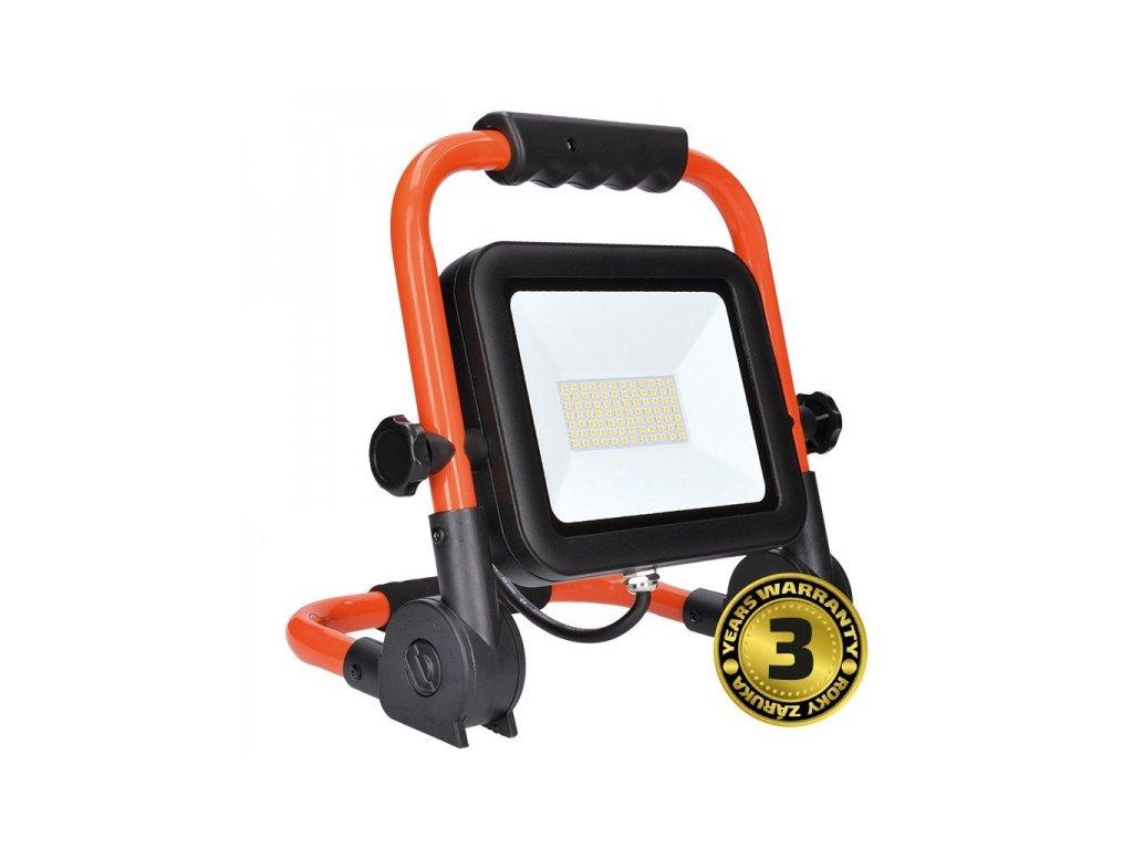 LED reflektor PRO se sklopný stojanem, 100W, 8500lm, 5000K, kabel se zástrčkou, IP65