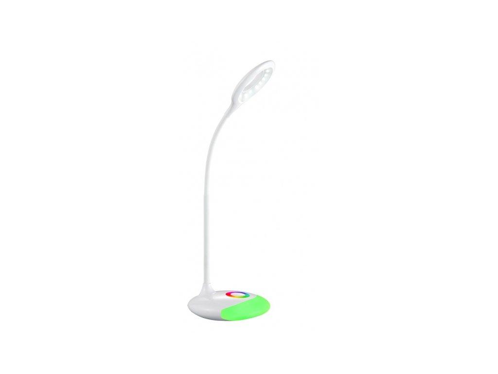 LED stolní lampička nabíjecí, 5W, RGB podsvícení, stmívatelná, USB napájení