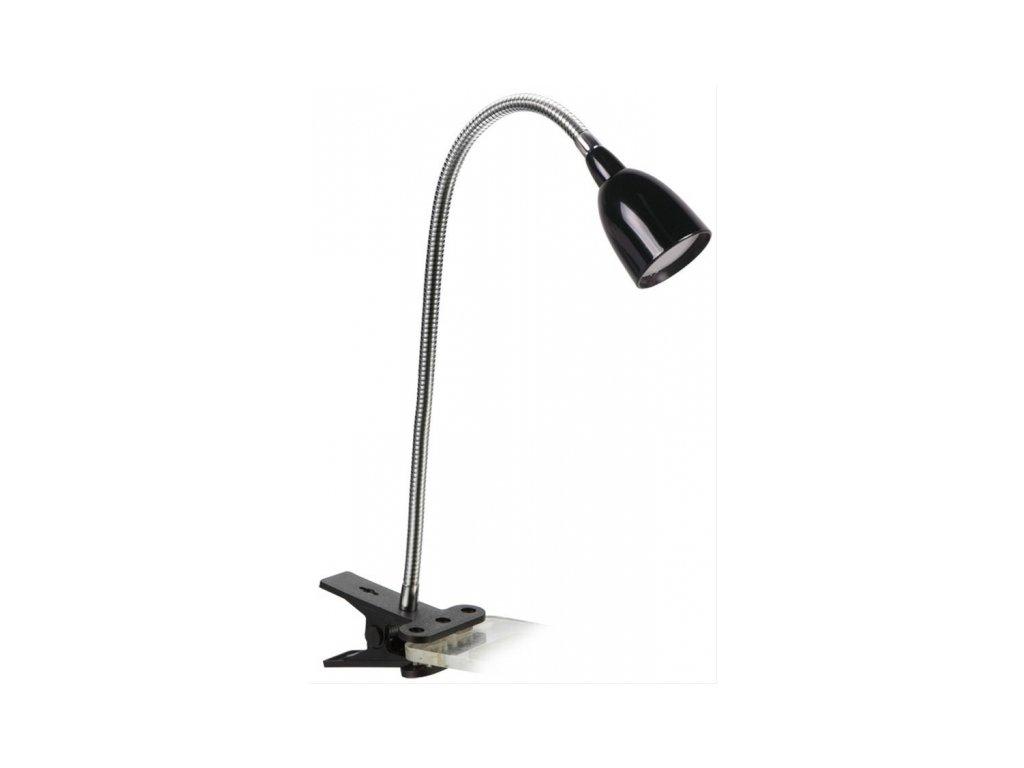 LED stolní lampička 2,5W, 3000K, clip, černá