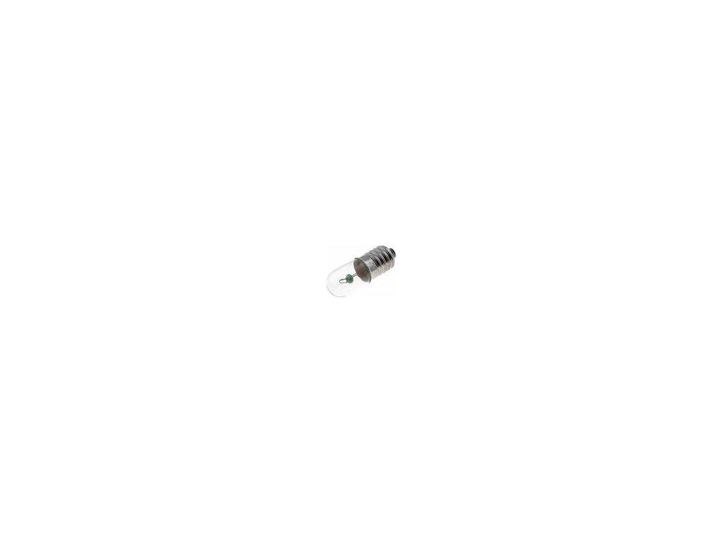 Žárovka: miniaturní E10 6VDC 300mA Baňka: válcový 2W průměr: 10mm