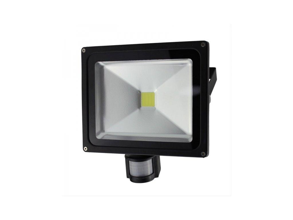 LED venkovní reflektor 30W 2100lm AC 230V černá se senzorem