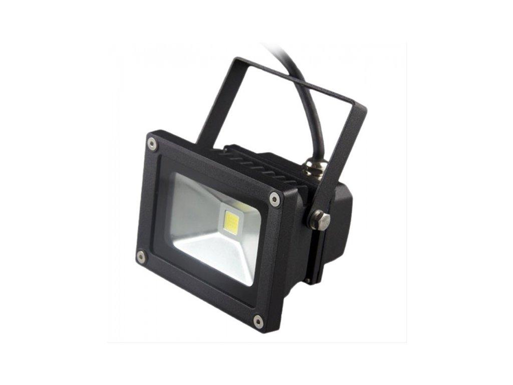 LED venkovní reflektor 10W 700lm AC 230V černá