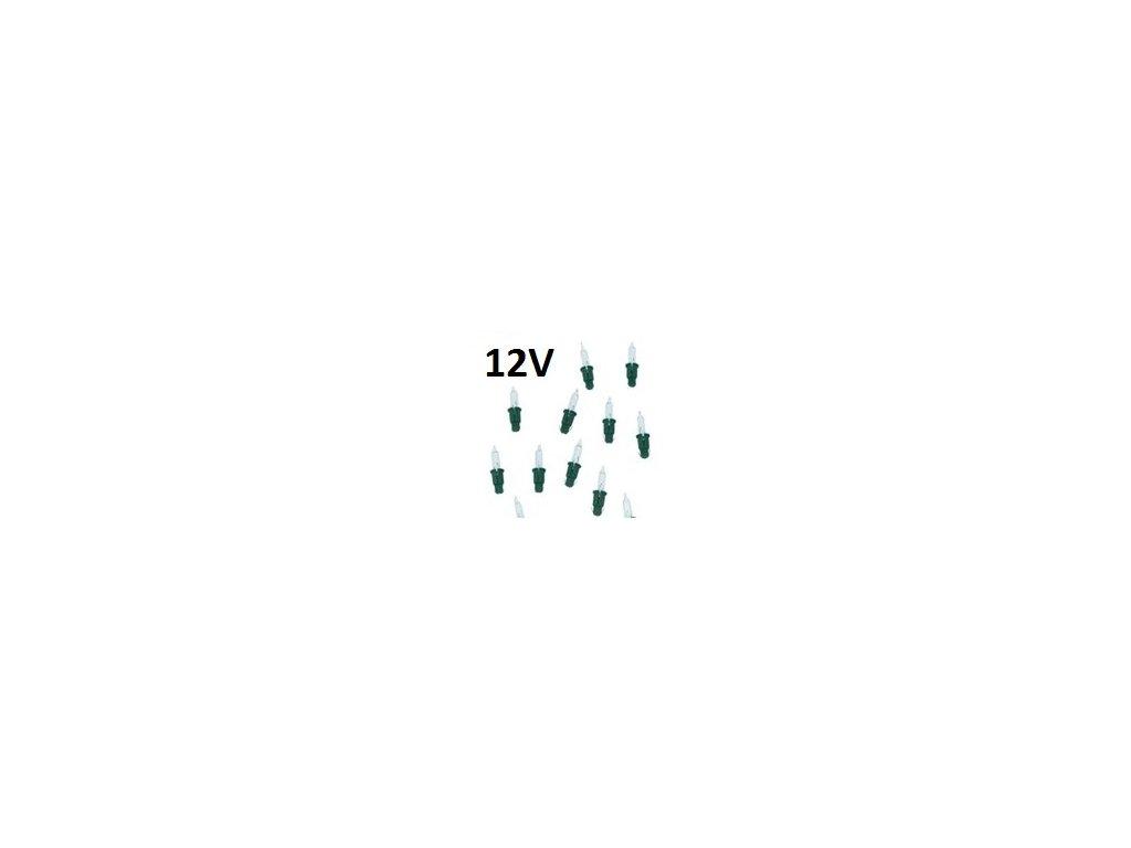Žárovka čirá pro stromek a vánoční řetěz 12V/cena za 1 ks