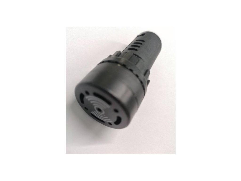 LED kontrolka se zvukovou signalizací 230V AC/DC studená bílá