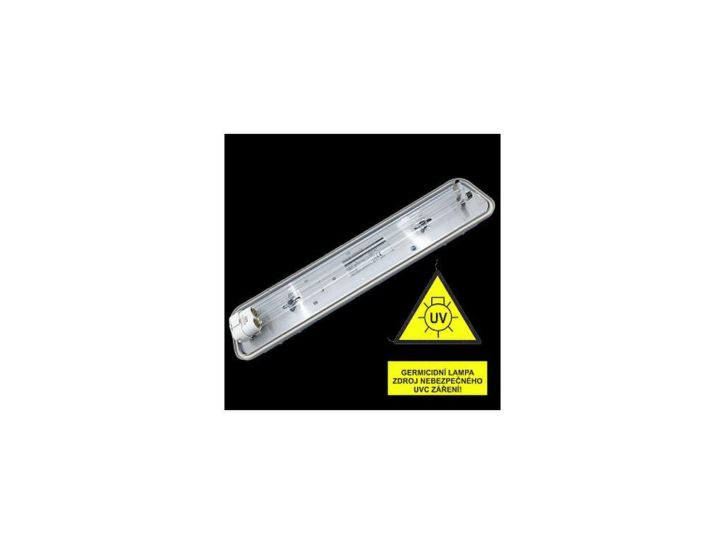VICTORIA IP20 GERMICID UVC 254 nm 1x18W (kompletní zářič UVC)