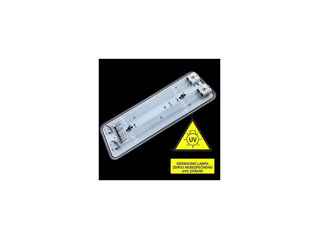 VICTORIA IP20 GERMICID UVC 254 nm 2x36W (kompletní zářič UVC)