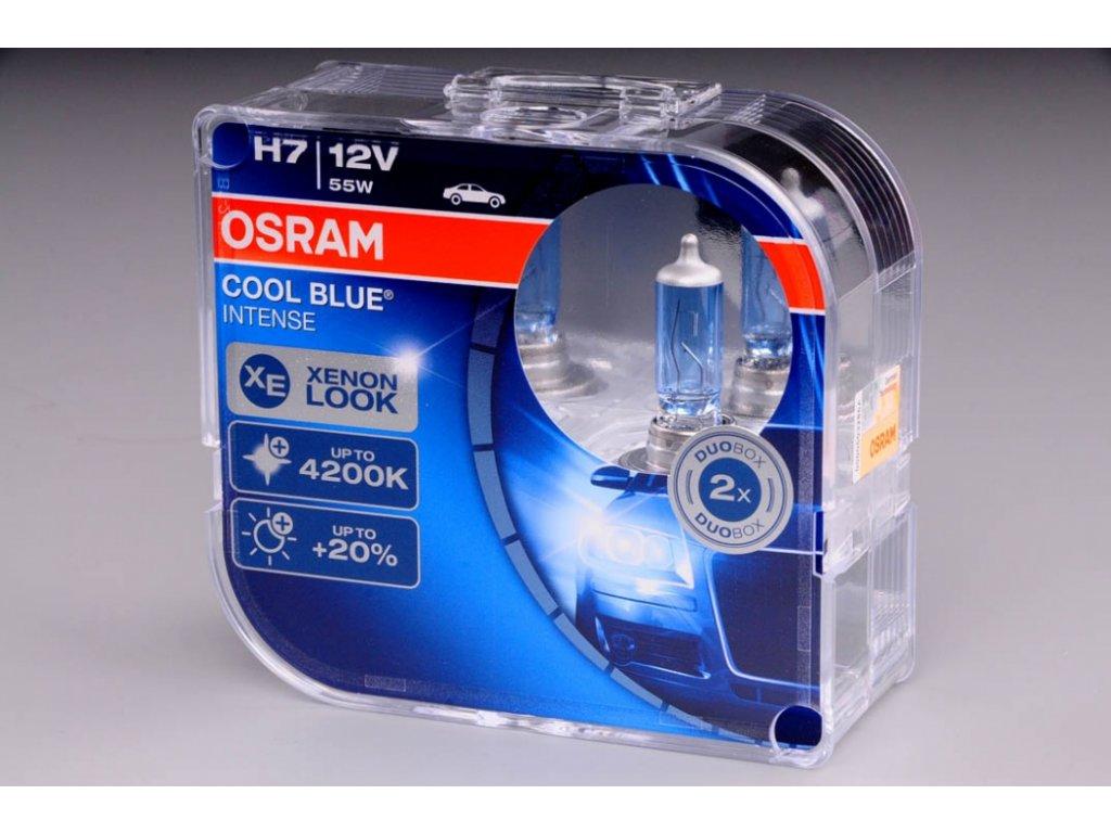 krabička H7 12V 55W PX26d COOL BLUE Intense 2ks