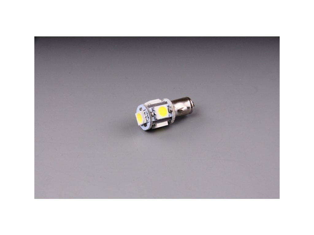 žárovka LED 12V 5W BA7s čirá 5xSMD 5050