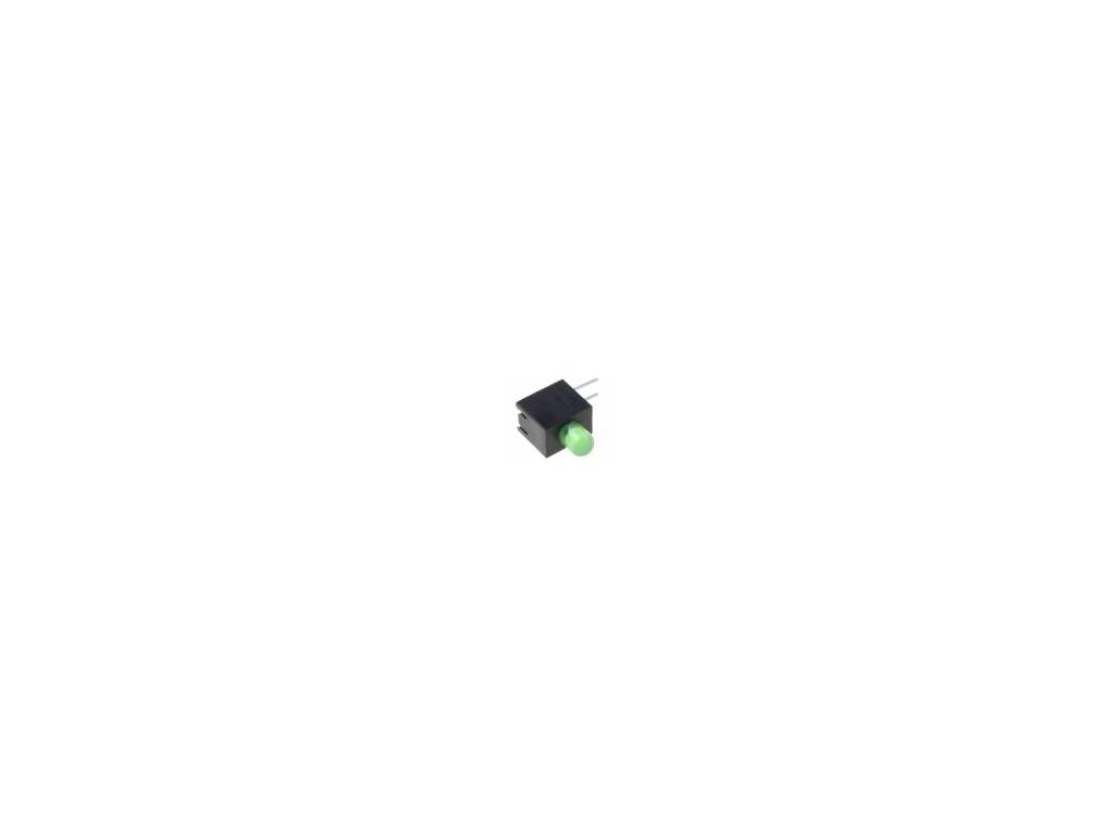LED zakrytovaný zelená 3mm Poč.diod: 1 20mA Čočka: difuzní 30°