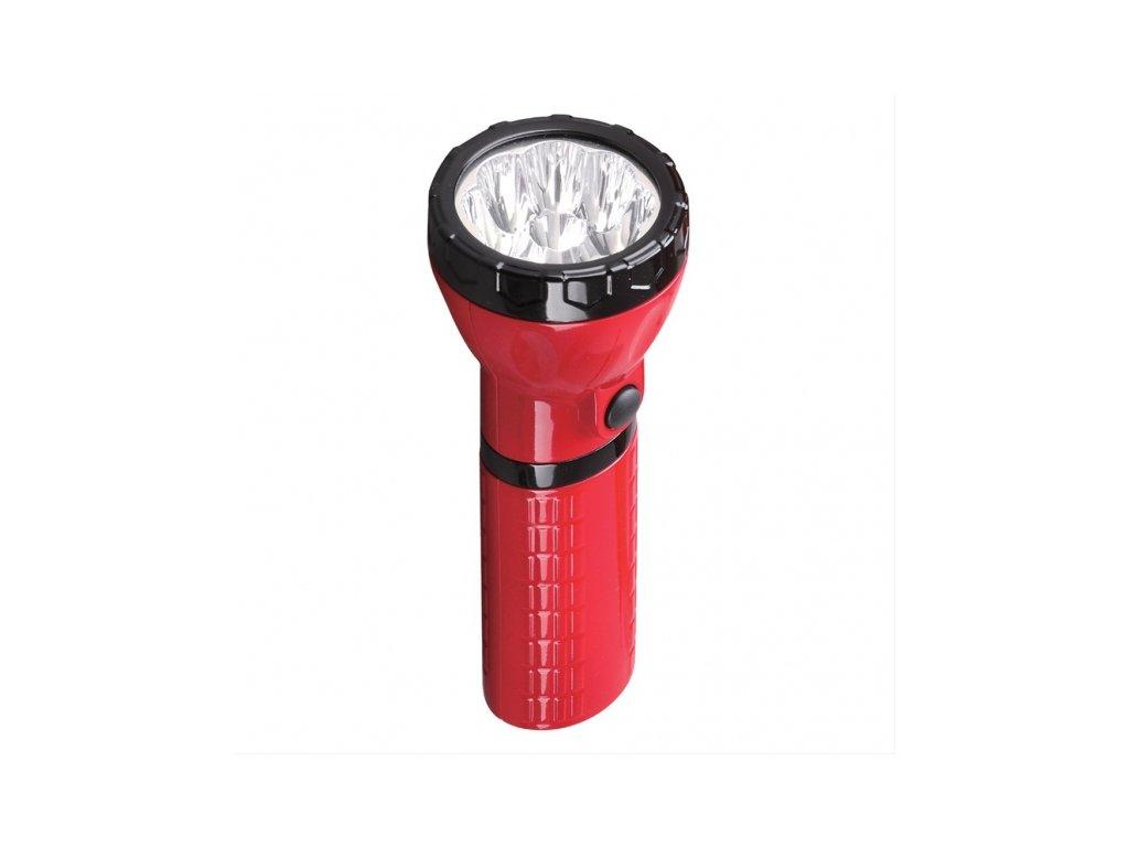 Nabíjecí LED svítilna plug-in Pb 800mAh 9x LED červenočerná