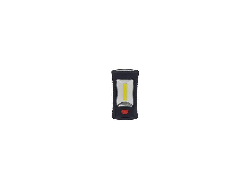 LED svítilna pracovní, 3W COB + 3 SMD LED, hák + magnet, 3 x AAA