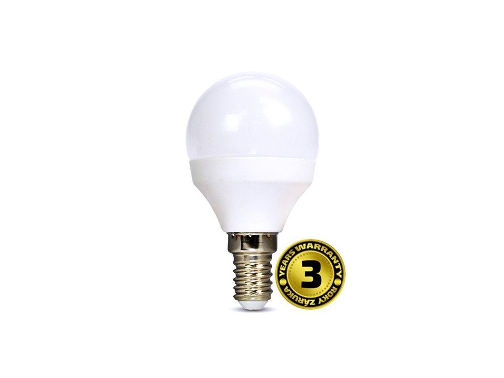 LED žárovka miniglobe 6W E14 4000K 420lm bílé provedení