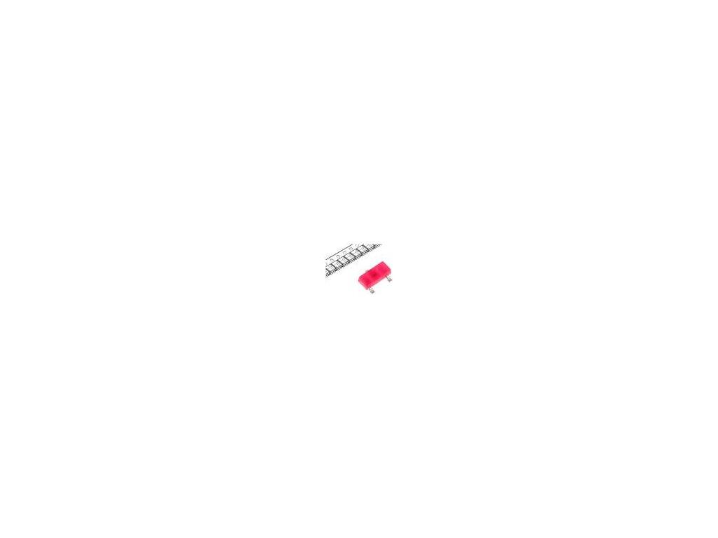 LED SMD SOT23 červená 4÷15mcd 3x1,3x1,05mm 140° 2÷2,5V 20mA
