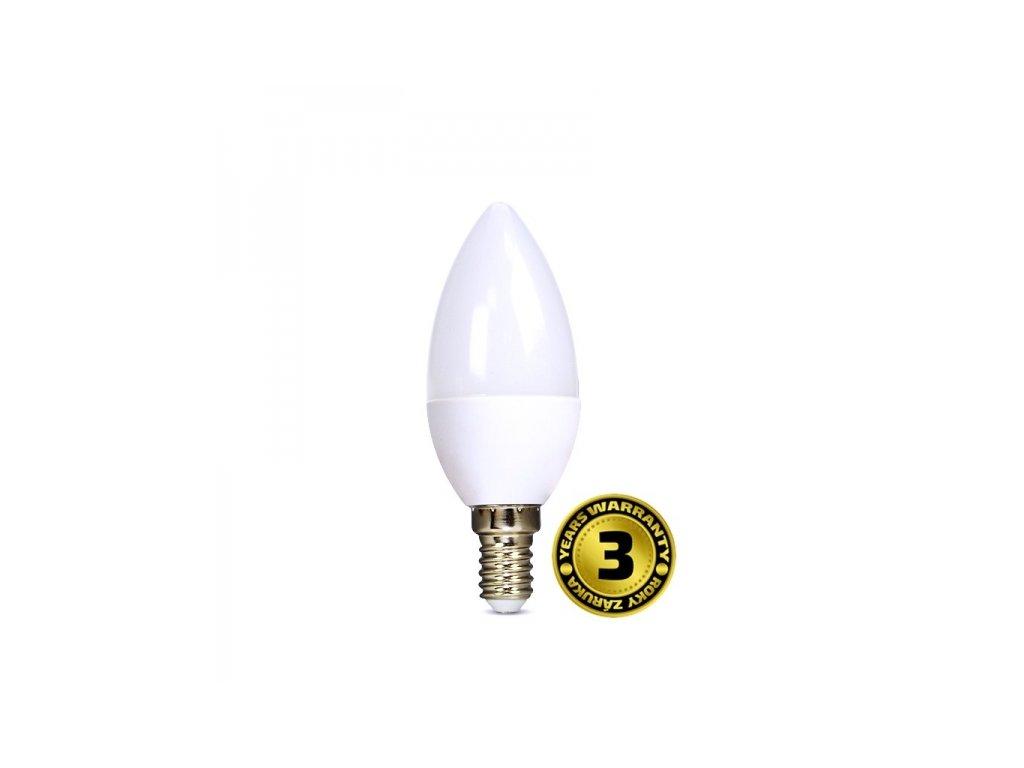 LED žárovka svíčka 6W E14 6000K 450lm