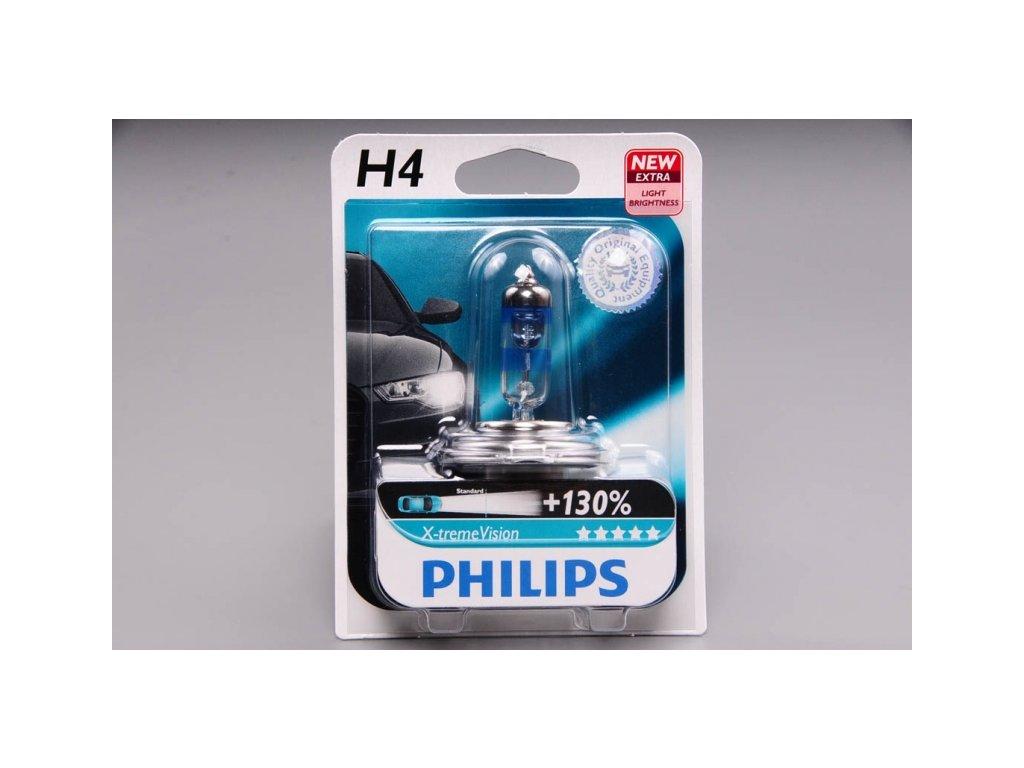 blistr H4 12V 60/55W P43t X-treme Vision - o 130% VÍCE SVĚTLA