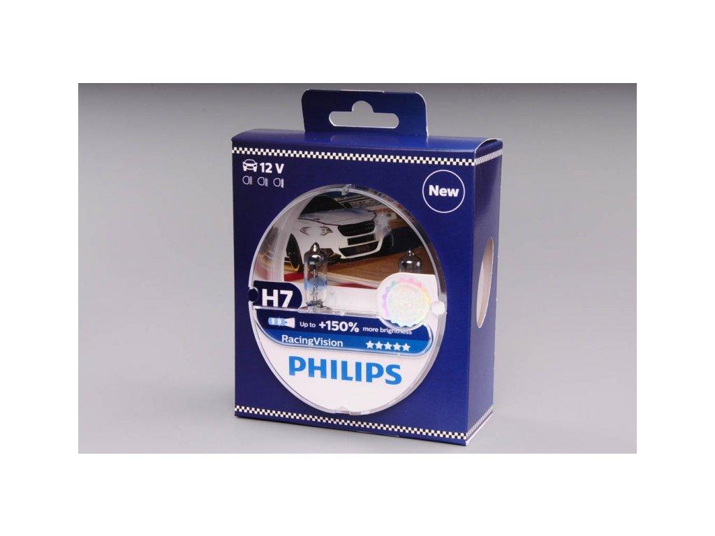 krabička H7 12V 55W PX26d Racing Vision 2ks box PHILIPS - o 150% VÍCE SVĚTLA