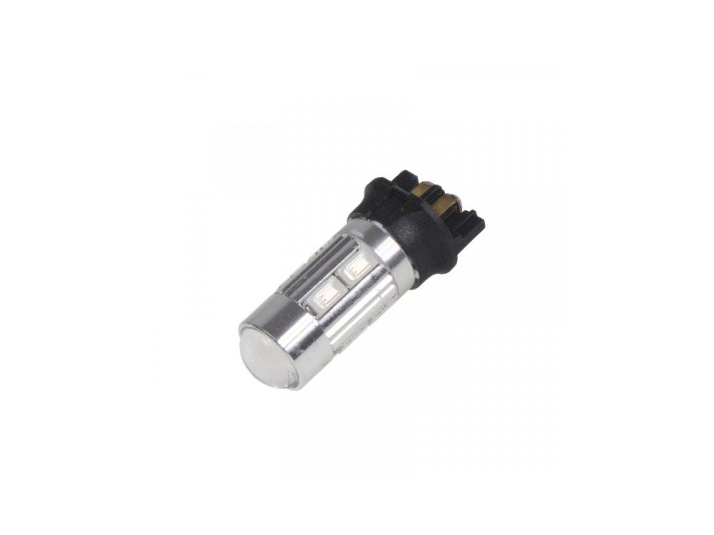 LED žárovka s paticí PW24W 8 x 5630SMD + 3W CREE 12V oranžová