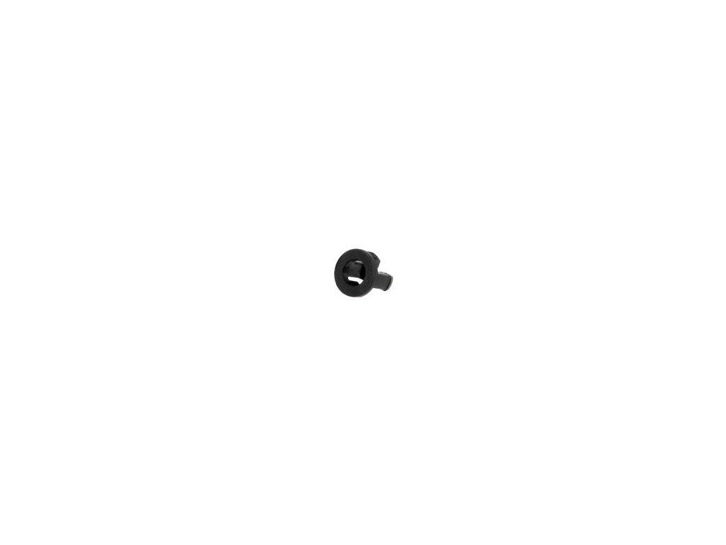 Držák LED 3mm jednodílné černá UL94V-2 L: 5,2mm Mat: polyamid