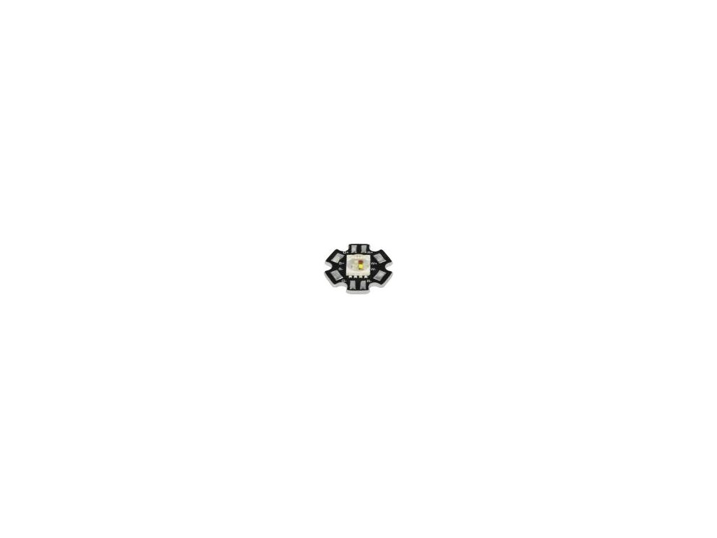 LED výkonová STAR,čtyřbarevná RGBW Pmax: 5W 3710-4260K 140°