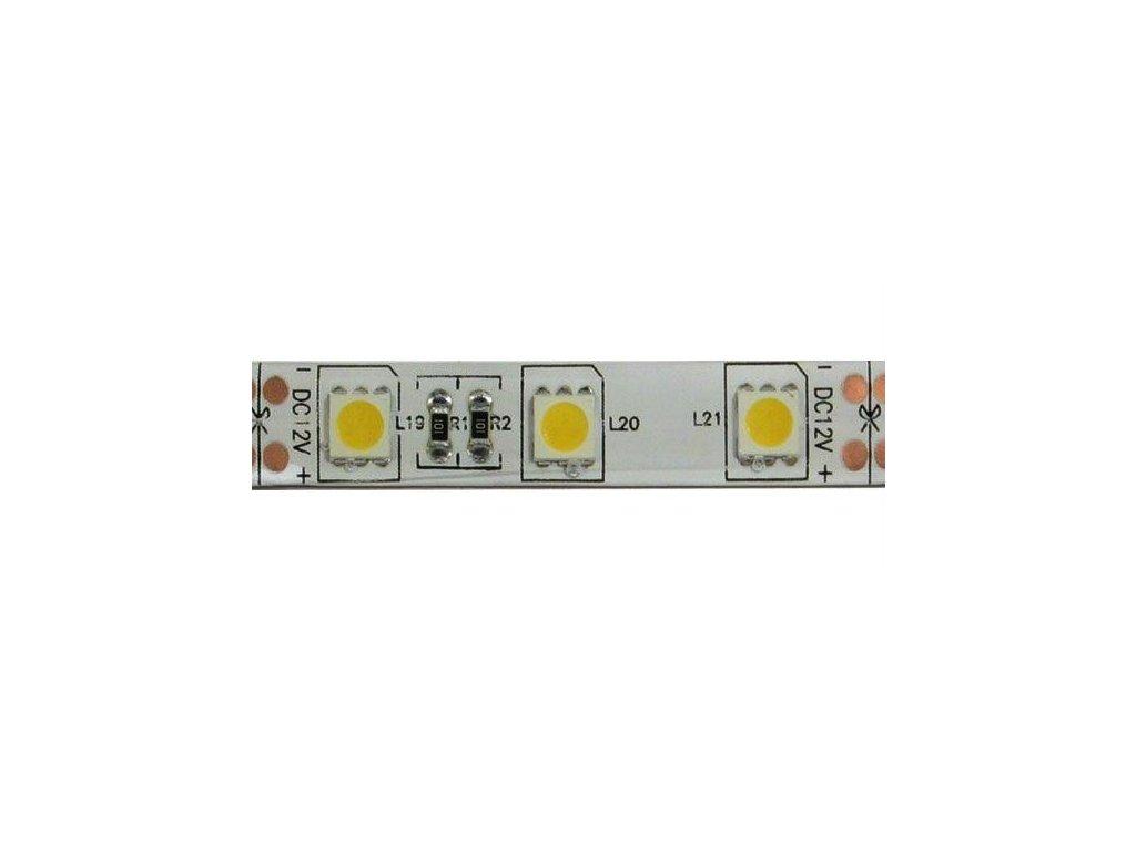 LED pásek 10mm, bílý teplý, 60xLED5050/m, IP65, modul 5cm