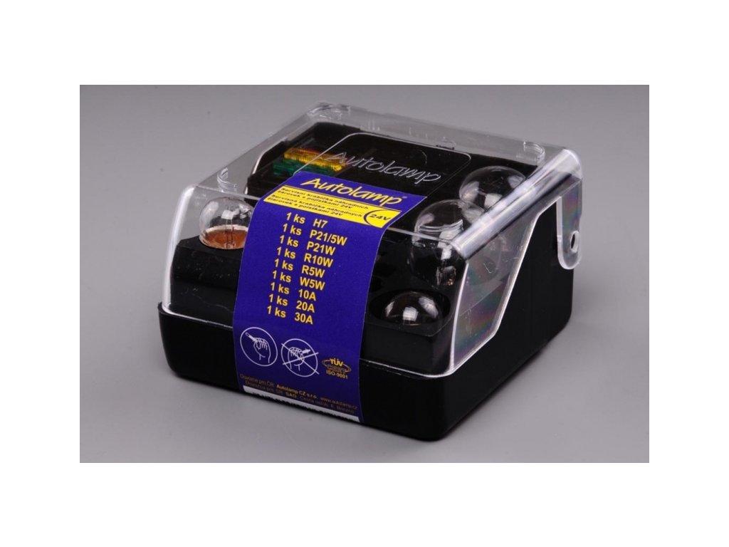 Autožárovky krabička H7 24V univerzální