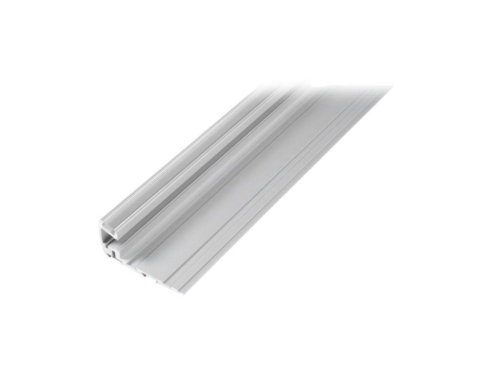 Profil pro moduly LED průhledný schodový L: 1m hliník