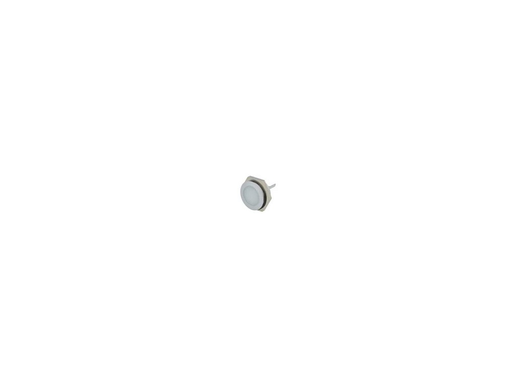 Kontrolka: LED plochá 12÷14VDC Otv: Ø22mm IP67 kov ØLED: 20mm
