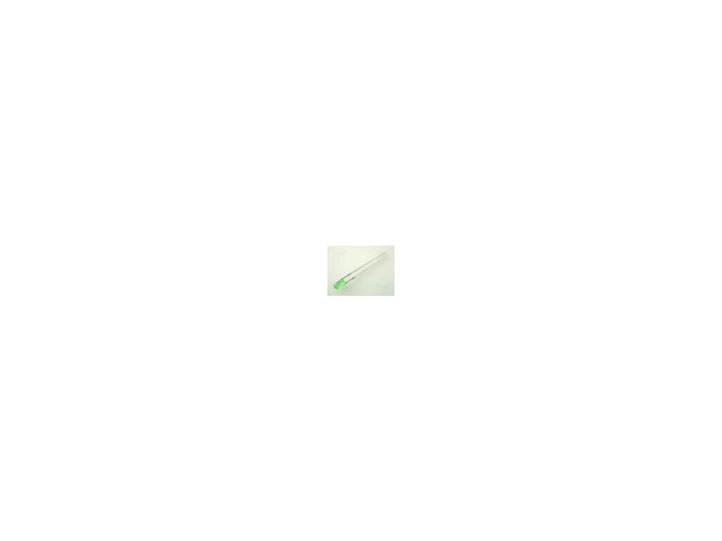 LED 3mm zelená 0,7÷2mcd 60° Čelo: vypouklé Rozteč: 2,54mm