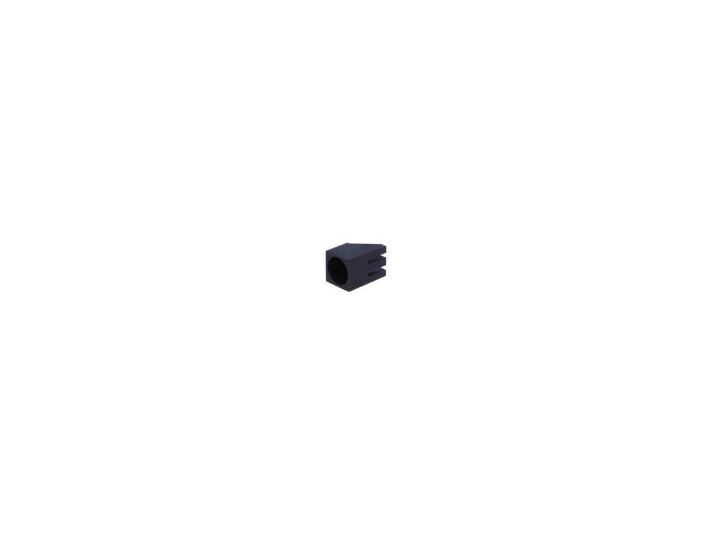 Objímka diody LED 5mm polyamid úhlová černá UL94V-2 H: 6mm