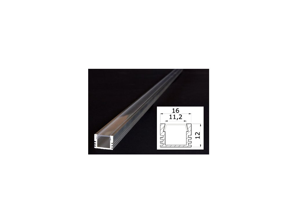 Profil pro LED pásky PDS4 s čirým krytem