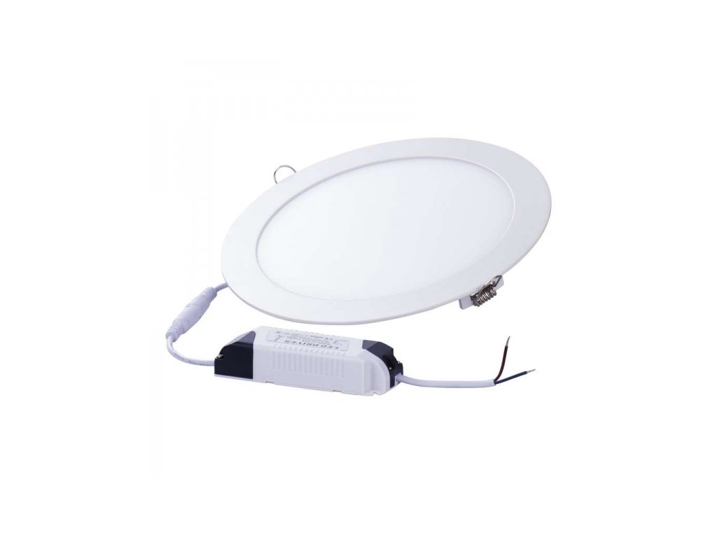 LED panel 220mm, kruhový vestavný bílý, 18W neutrální bílá