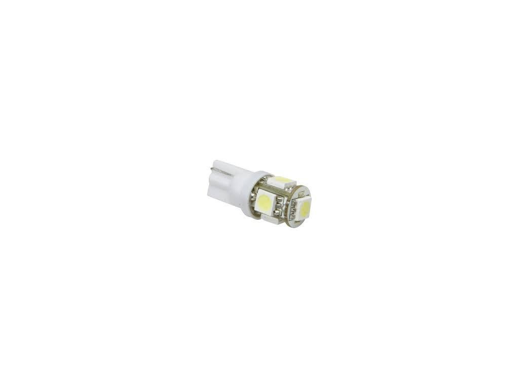 LED žárovka 12V T10 5W W2,1x9,5d bílá SUPER 360° W5W