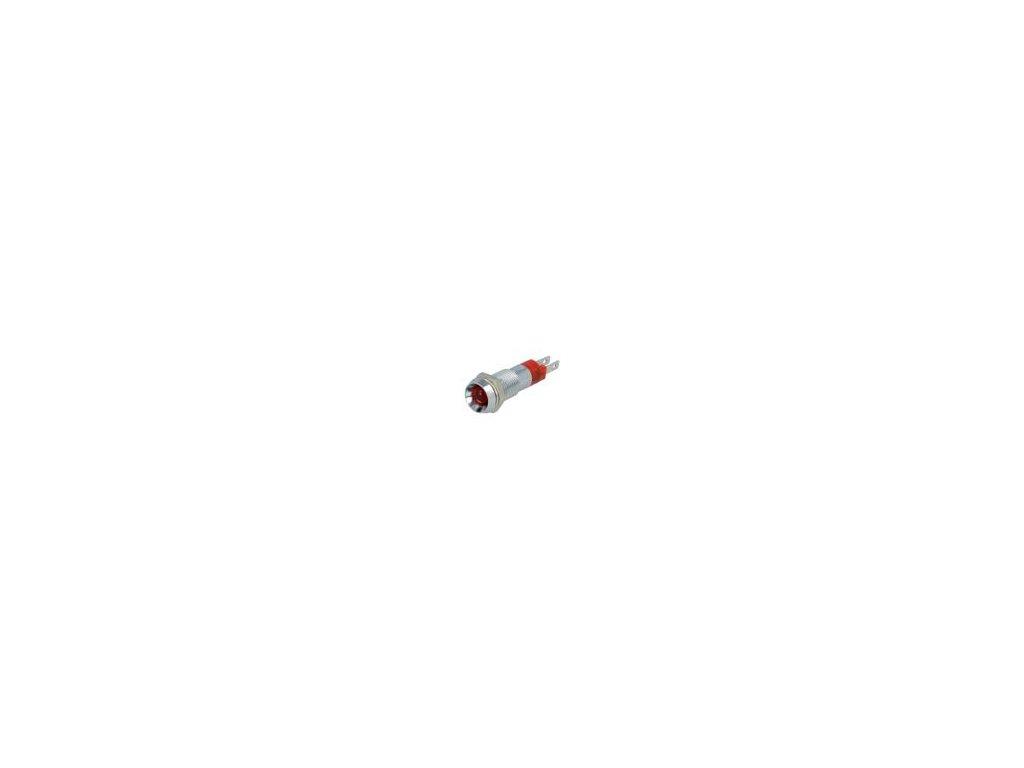 Kontrolka: LED vydutá 24÷28VDC Otv: Ø8,2mm IP67 kov ØLED: 5mm