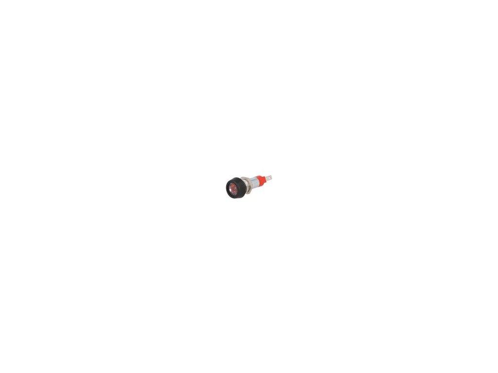 Kontrolka: LED plochá 24÷28VDC 24÷28VAC Otv: Ø8,2mm IP67 mosaz