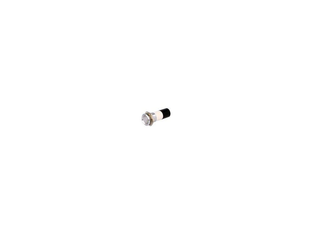 Kontrolka: LED vydutá 230VDC 230VAC Otv: Ø22,2mm IP67 kov