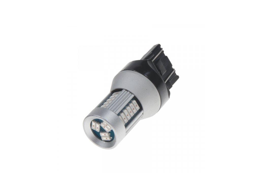 LED žárovka T20 (7443) červená 12V-24V 30LED/4014SMD