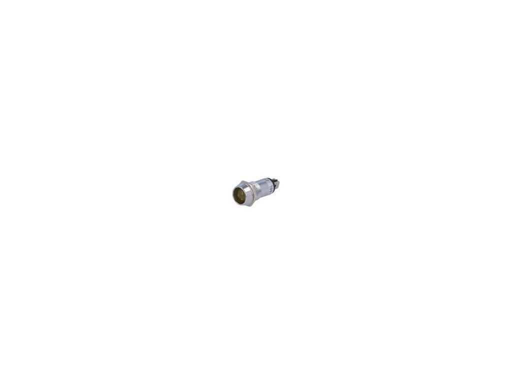 Kontrolka: LED vydutá 12VDC Otv: Ø14,2mm IP40 mosaz ØLED: 10mm