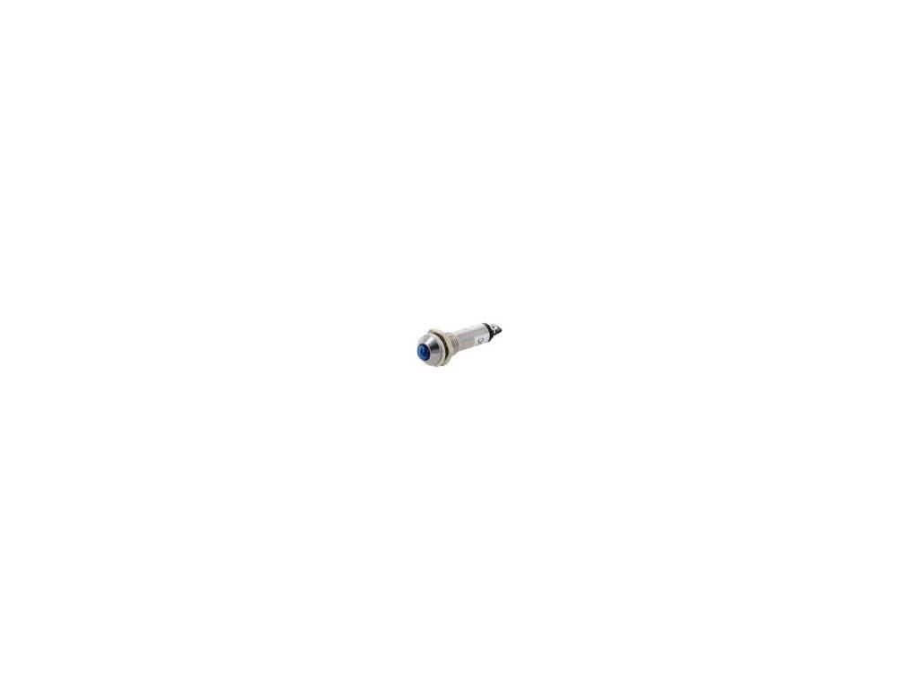 Kontrolka: LED vypouklá 12VDC Otv: Ø8,2mm IP40 pájecí kov