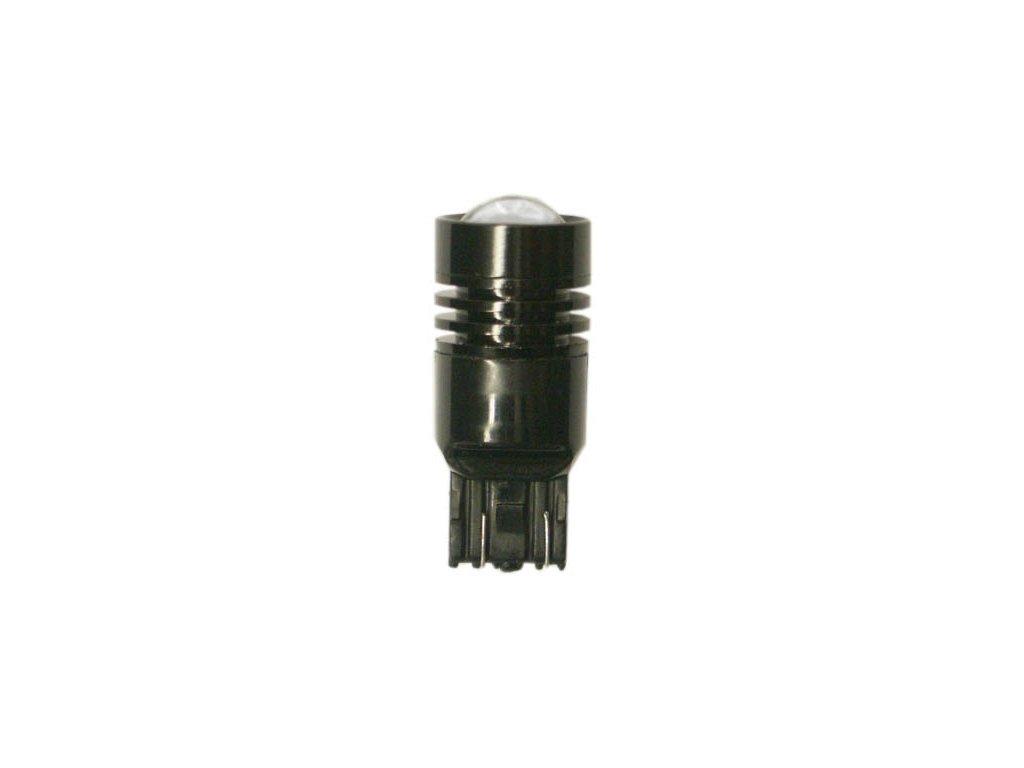 LED žárovka 12V-24V 21/5W W3x16q s čočkou