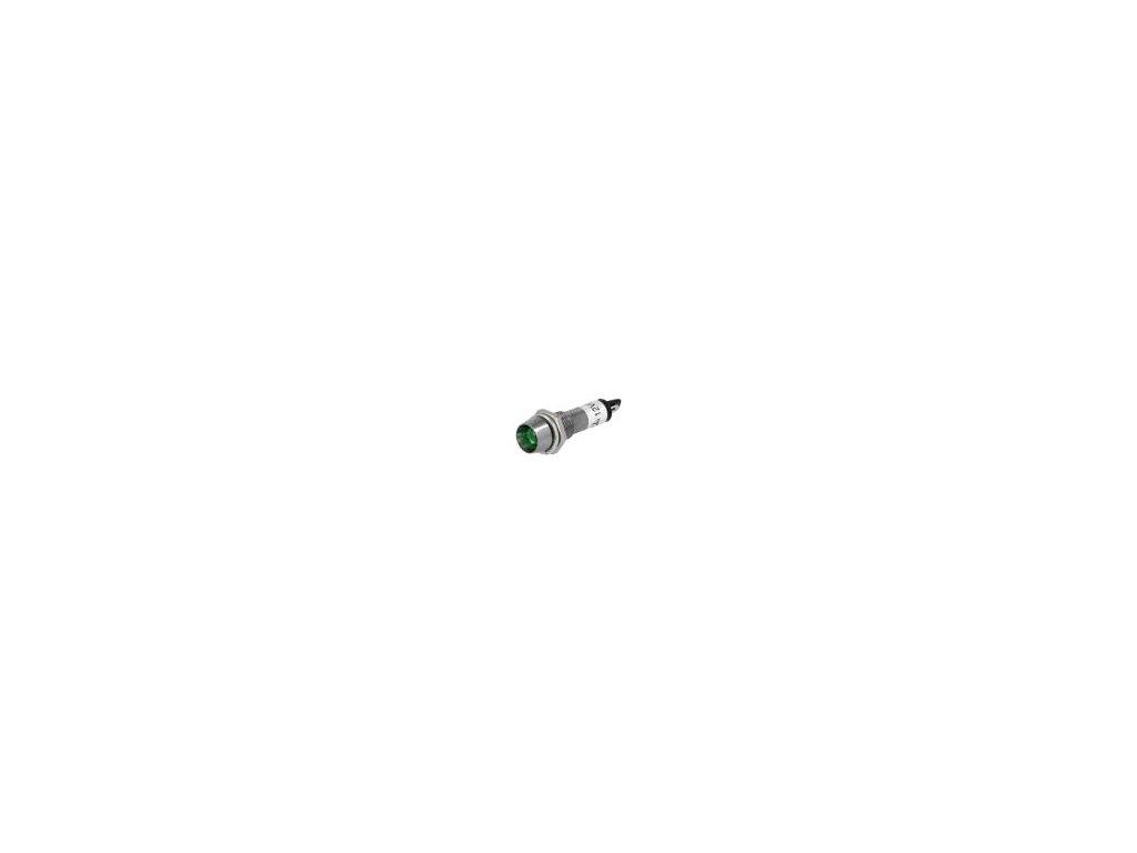 Kontrolka: LED vydutá 12VDC Otv: Ø8,2mm IP40 pájecí kov