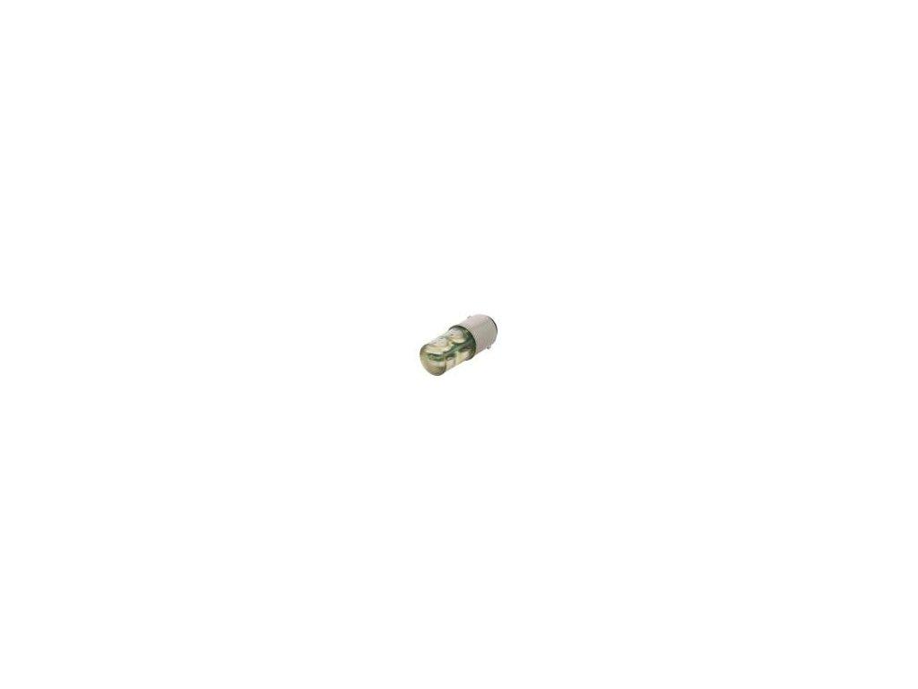 Žárovka LED žlutá BA15D 230VAC