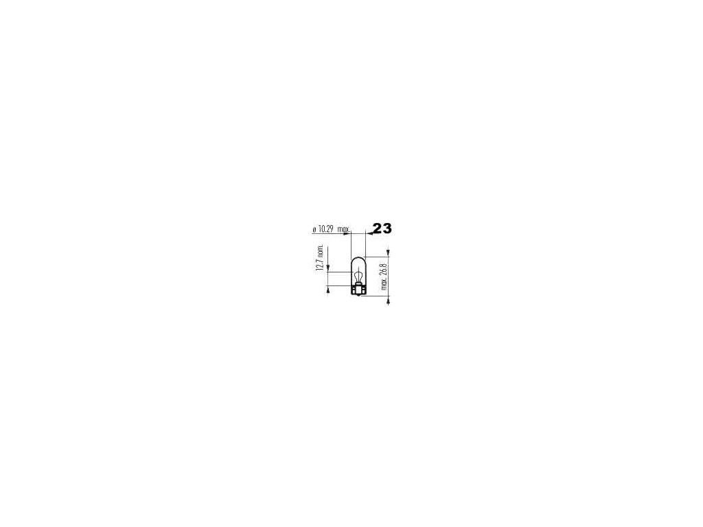 žárovka 12V 1,2W W2,1x9,5d