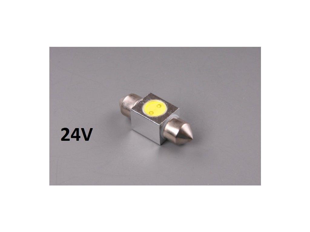 LED žárovka 24V 15W SV 18x31mm čirá