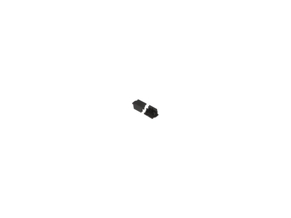 Záslepka pro LED  profily černá ABS Určení: UNI12