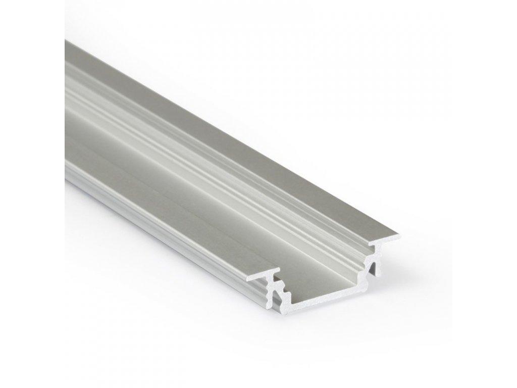 Profil pro moduly LED zapuštěné přírodní L: 2m hliník