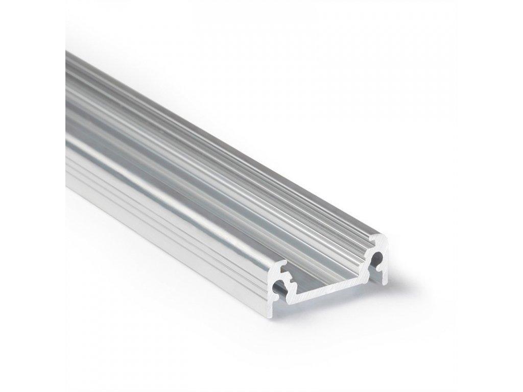 Profil pro moduly LED přisazené přírodní L: 1m hliník