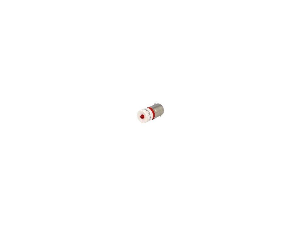 Žárovka LED červená BA9S 24VDC 24VAC